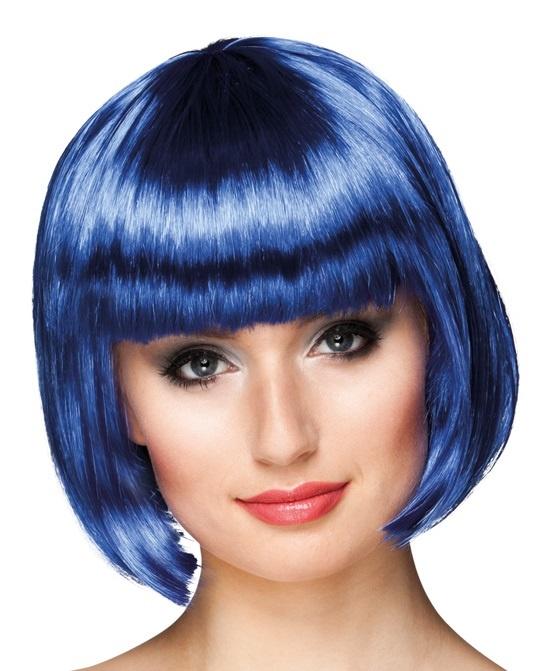 Perücke Cabaret blau