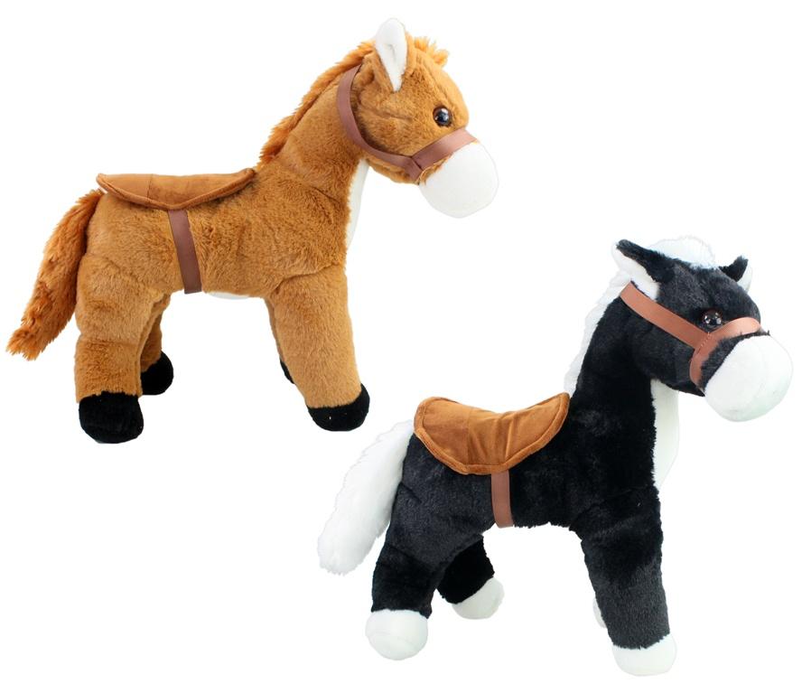 Pferd mit Sattel stehend ca 40 cm