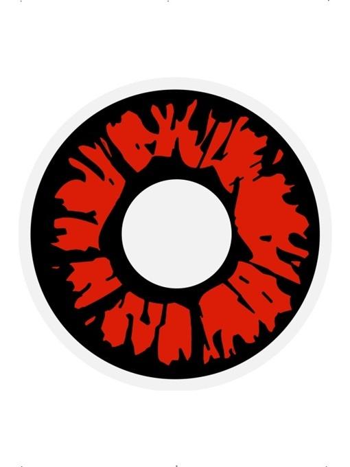 Kontaktlinsen Explosion Red 1 Tages Linsen