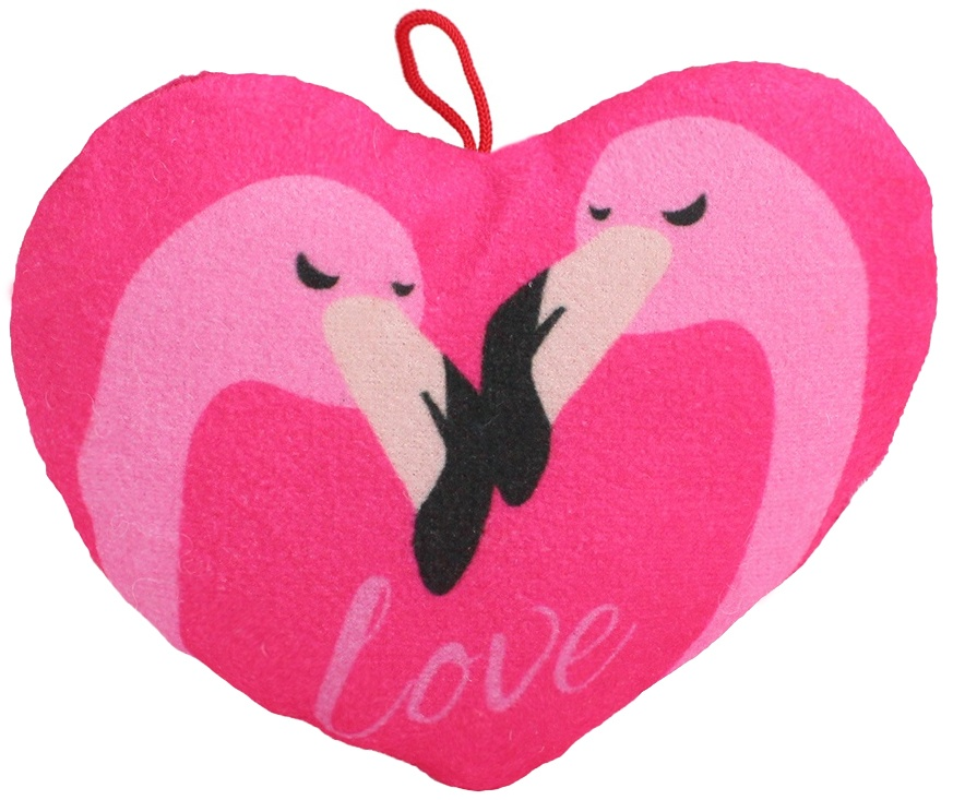 Herz mit Flamingo Aufdruck ca 20 cm