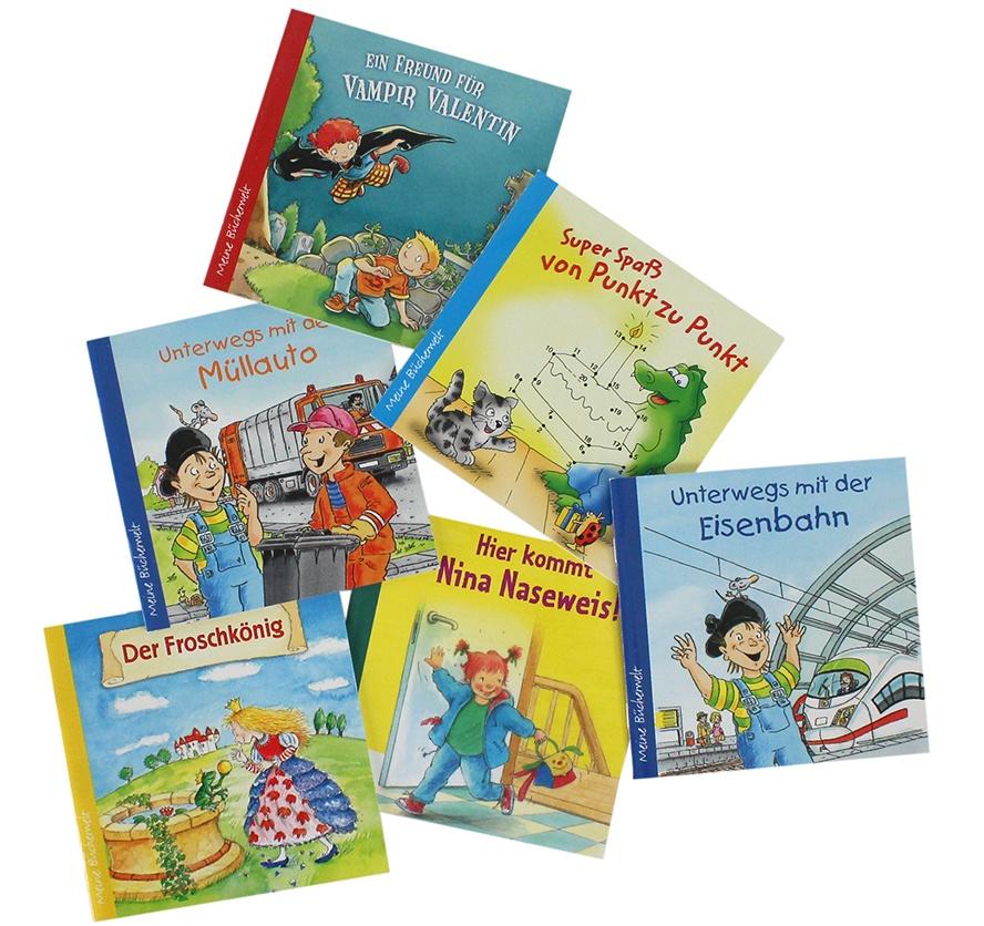 Bücher Mini-Bücher Heftchen mehrfach sortiert ca 11,5x11,5cm