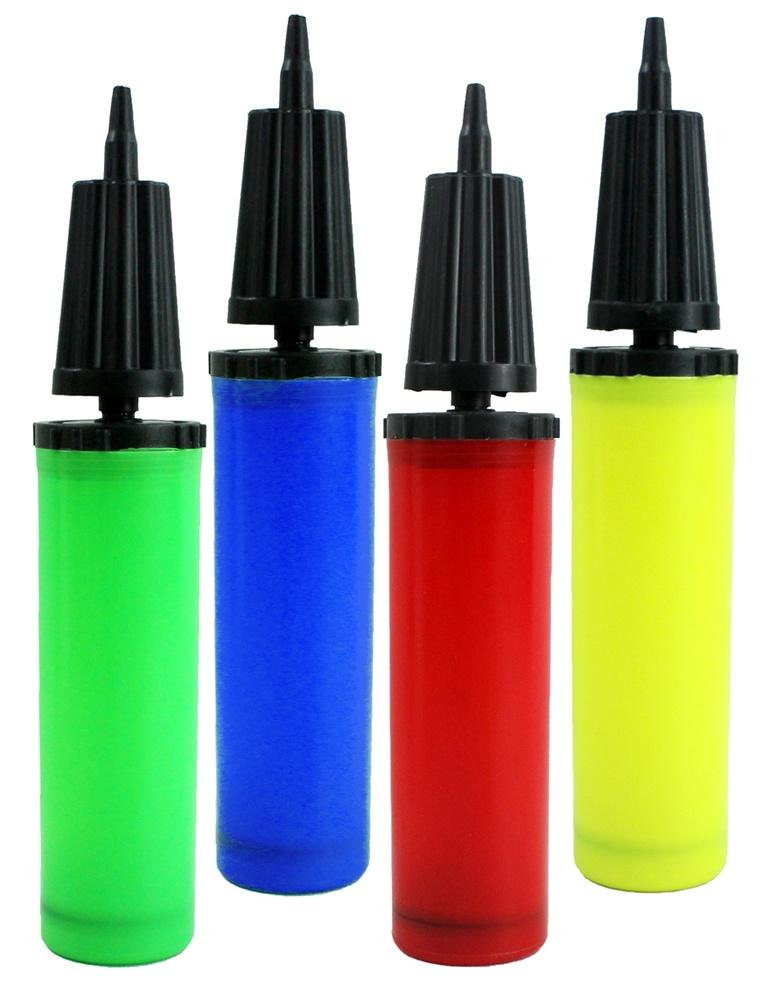 Luftpumpe Ballonpumpe  4 Farben sortiert ca 30 cm
