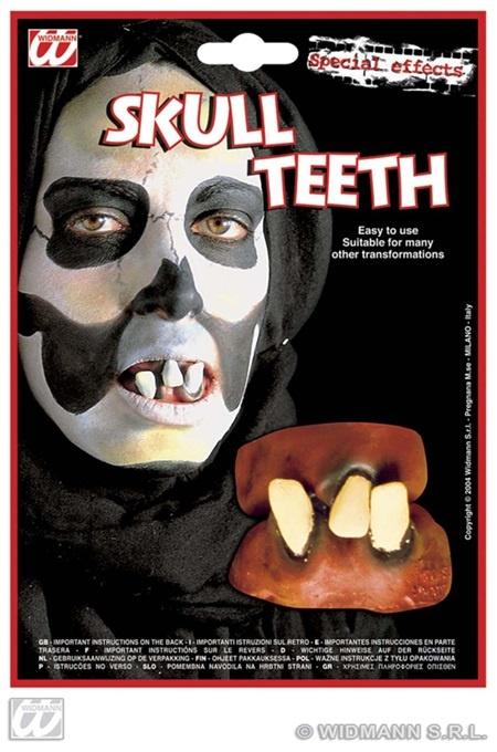 Zähne - Deluxe Totenkopf auf Karte ca 22x15,5 cm