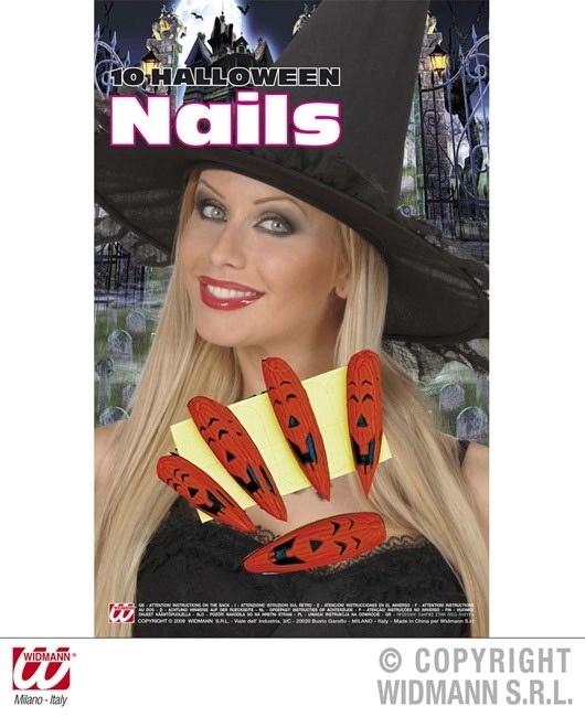 Fingernägel Halloween 10er Set - mit 10 Klebelaschen