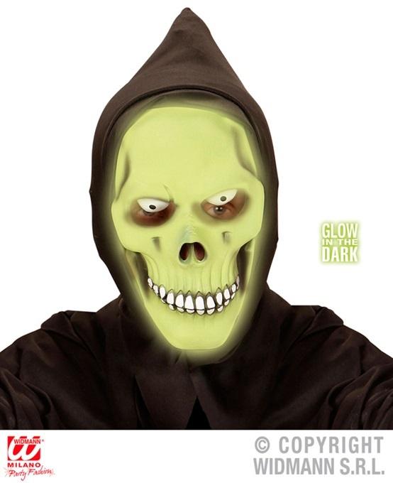 Maske Sensenmann mit Kapuze