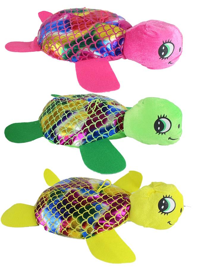 Schildkröte Glitzer 3-farbig sortiert - ca 33 cm