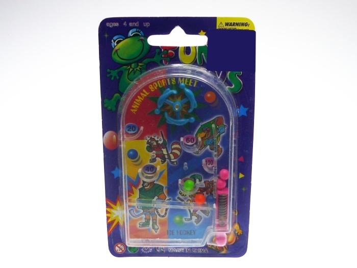 Flipperspiel auf Karte ca 8 x 14 cm