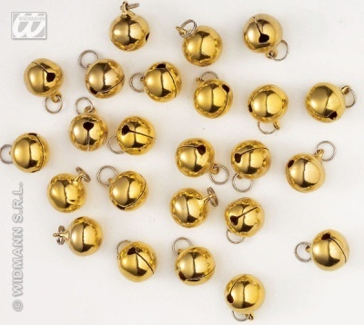 Glöckchen gold 24 Stück - je ca 12mm