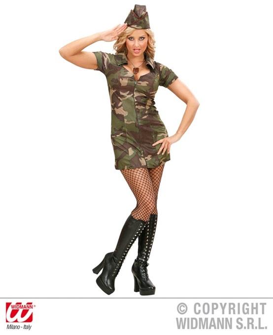 Kostüm Soldatin (Kleid und Hut) Größe M