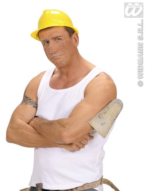 Bauarbeiterhelm gelb- für Erwachsene