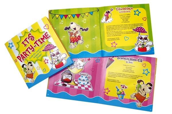Rezeptbuch für Kinder: ITS  PARTYTIME - ca 13x13cm