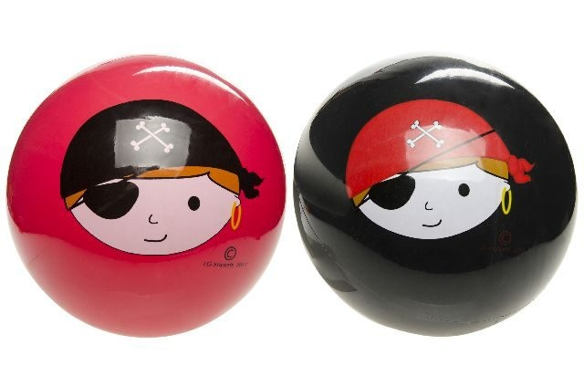 Ball Piratendesign 2-fach sortiert ca 23 cm