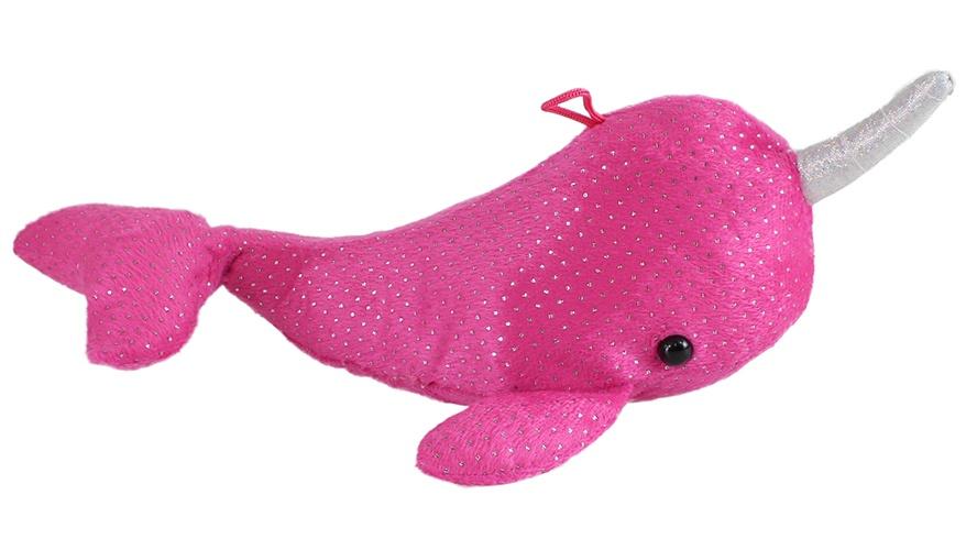 Narwal Glitzerplüsch pink ca 30 cm