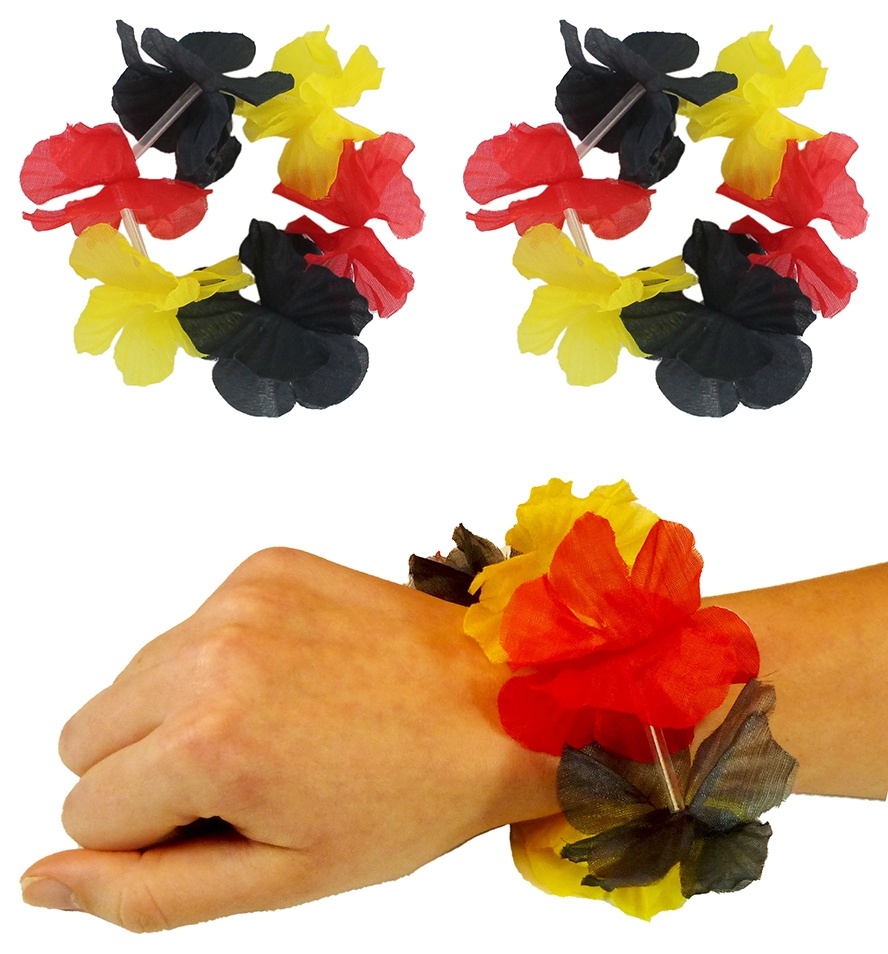 Deutschland Hawaii Armband 2er-Set 6 Blüten ca 25cm Umfang