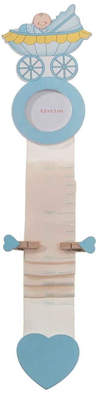 Bieco Stoffmesslatte blau ca 186cm