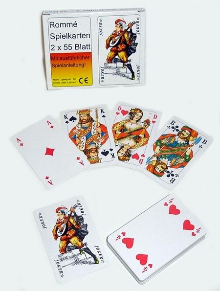 Kartenspiel Romme 2 x 52 Blatt