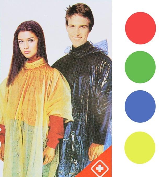Regenponcho Notfallponcho 4 Farben sortiert -