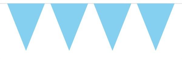 Wimpelkette Baby blau - ca 10 meter