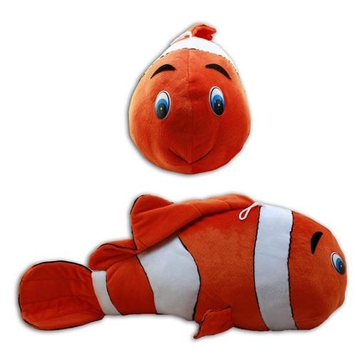 Fisch orange-weiss ca 58 cm