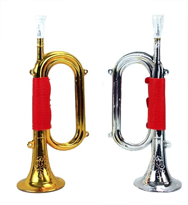 Trompete gold und silber sortiert ca 34 cm