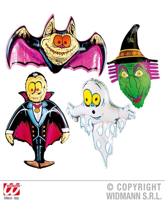 Halloweenfiguren aufblasbar 4-fach sortiert - ca 78cm