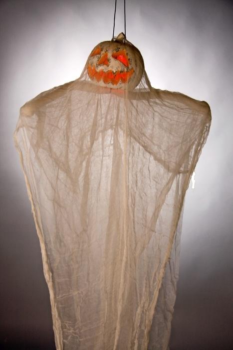 Kürbis-Geist mit Beleuchtung, ca. 125 cm, (ohne Batterien)