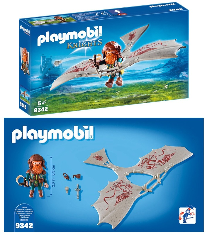 PLAYMOBIL 9342 -Knights- Zwergenflugmaschine