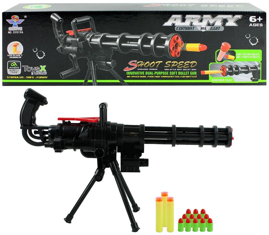 Maschinengewehr mit Soft Bullet - in Box ca 43x13x9,5cm