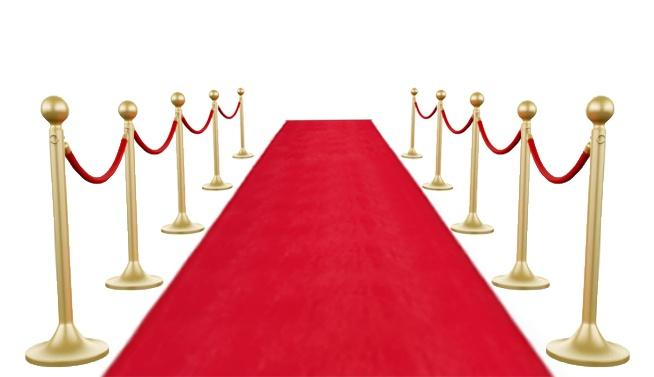 Teppich rot ca 450x 60 cm