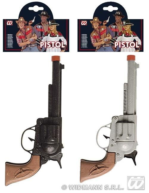 Pistole - Cowboypistole 2-fach sortiert - ca 23cm