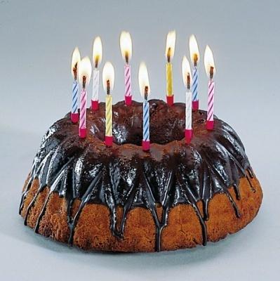 Kerzen - 10 magische Kerzen mit Halter