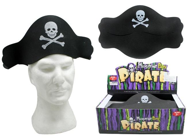 Piratenhut schwarz Einheitsgröße