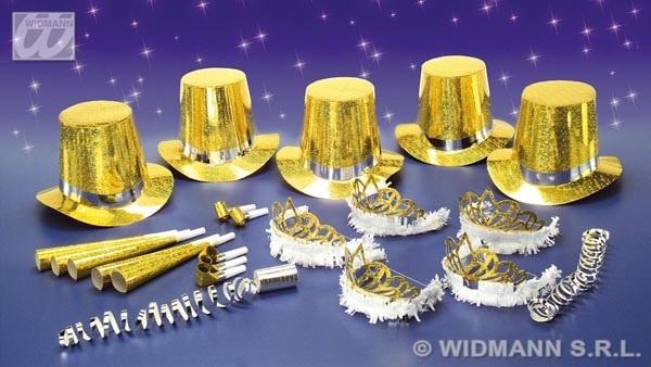 Partyset Las Vegas gold für 10 Personen