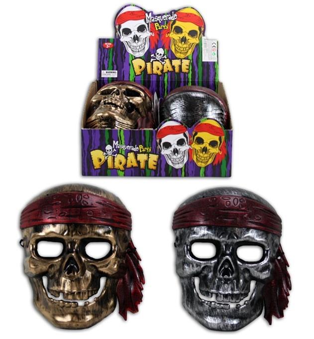 Maske Pirat 2-fach sortiert für Kinder