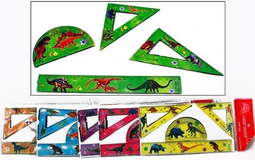Linealset 4 teilig 6 Farben sortiert