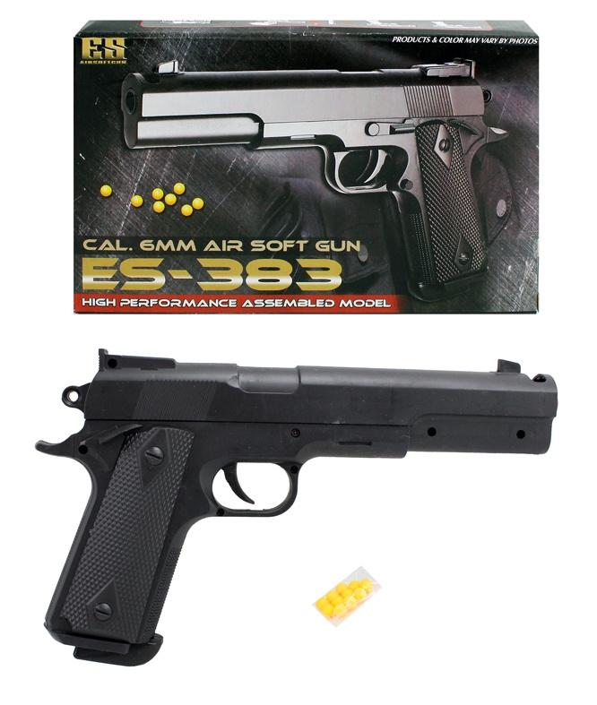 Kugelpistole mit Magazin max 0,49 Joule - ca 25cm