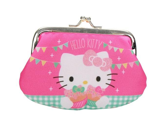 Hello Kitty Tea Party Geldbörse mit Glitzer - ca 12x9cm