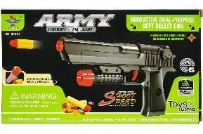 Pistole Soft Bullet für Softdarts u Softpatronen ca 24,5cm