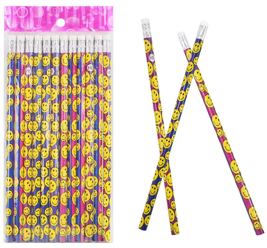 Bleistift mit Lachgesicht ca 18 cm