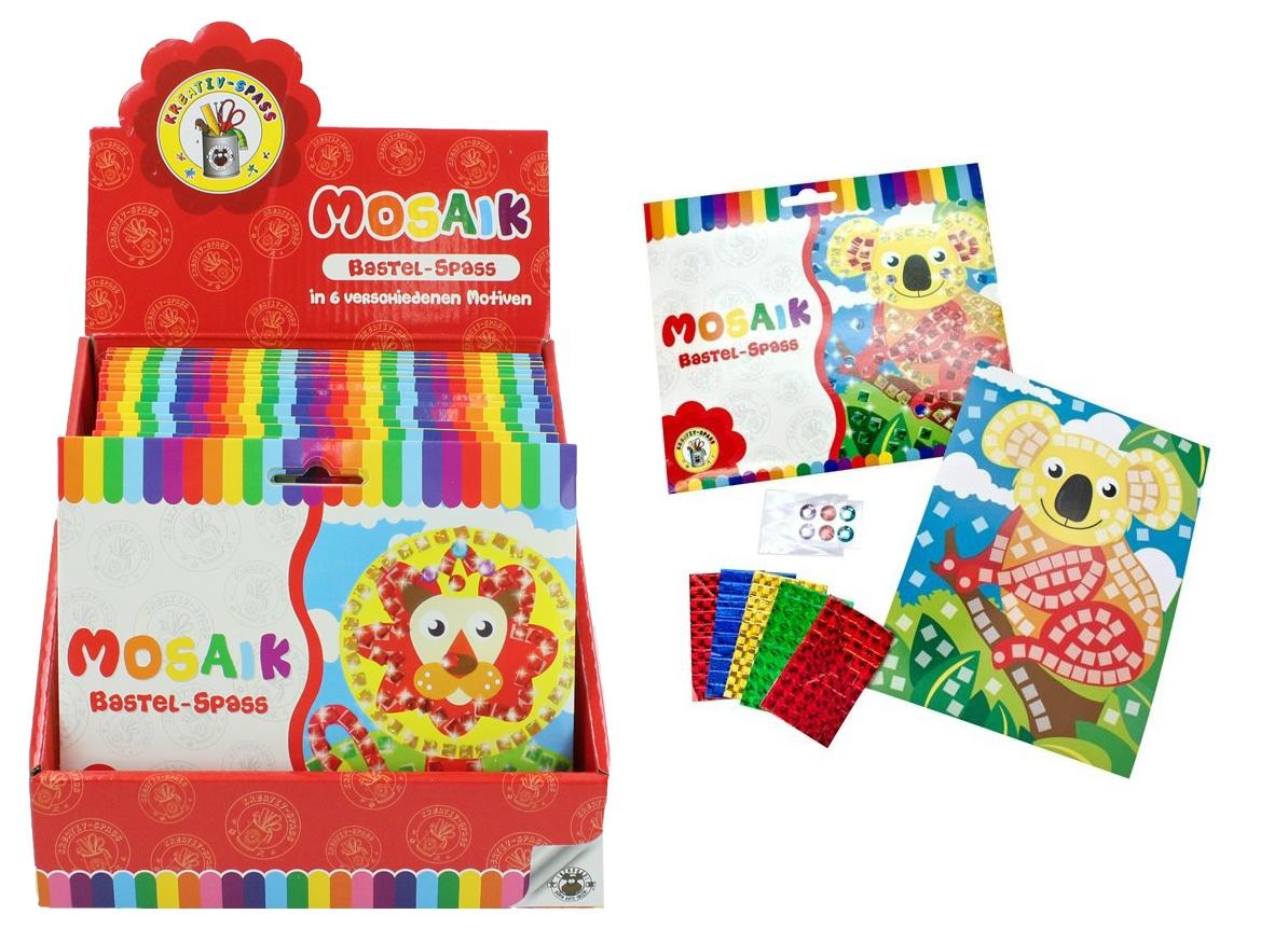 Kreativ Spass Mosaik 6-fach sortiert in Schachtel ca 18x15,5