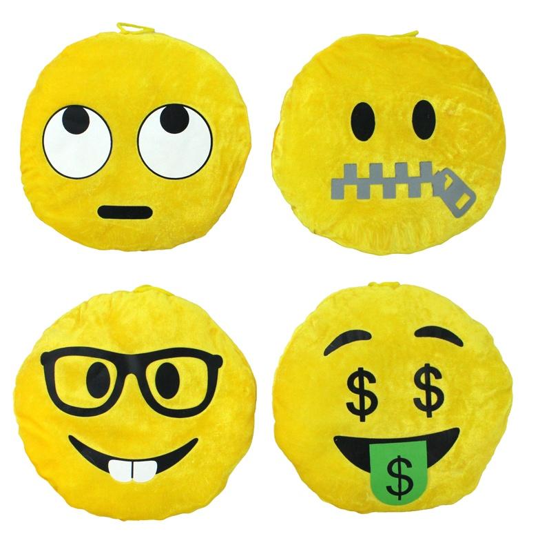 Smilie Gesichter 4 fach sortiert ca 20 cm