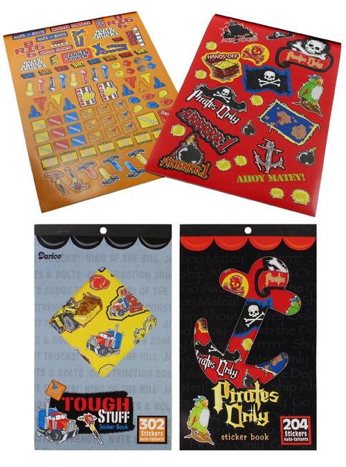 Stickerbuch 2-fach sortiert ca 24,5x14,5cm