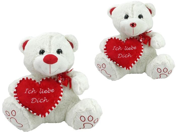 Bär mit Herz 2-fach sortiert ca 60 cm