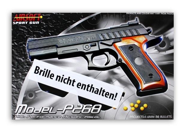 Pistole - max 0,49 J - ca 23cm