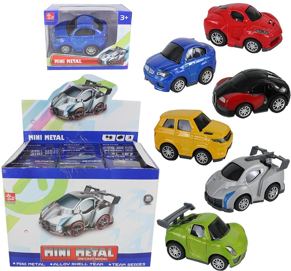 Rennwagen METALL 6-fach sortiert in Box ca 9,5x6,5x5,5cm