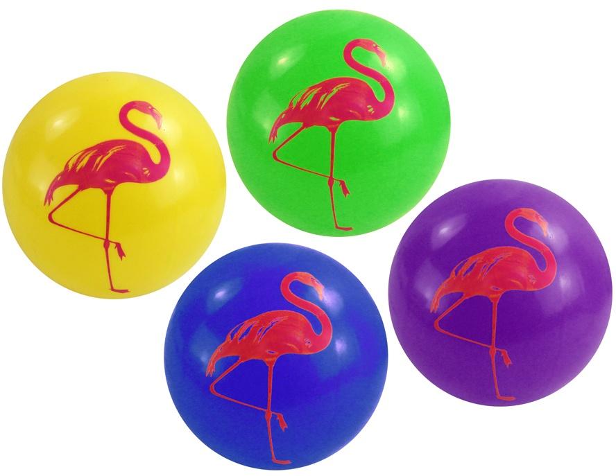 Flamingo Ball 4-fach sortiert - im Netz ca 20 cm