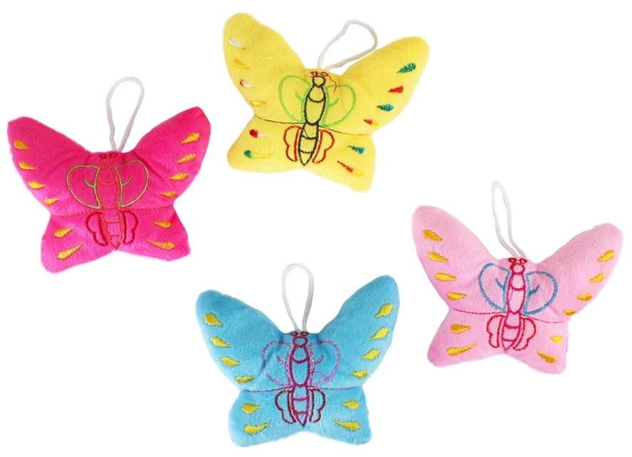 Plüsch Schmetterling 3-fach sortiert ca 13x9 cm