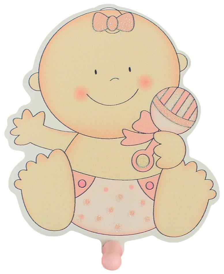 Bieco Garderobe Holz Baby rosa ca 13x11,5cm