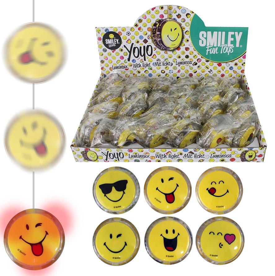 Smileyworld Jojo mit Licht 6-fach sortiert ca 5,5cm