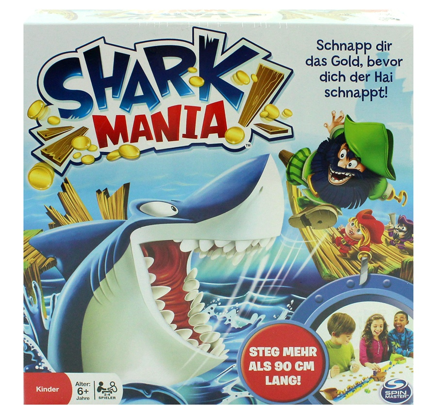 Shark Mania Brettspiel in Box ca 26,5x26,5x9cm